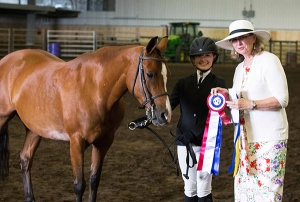 Berrylyn Alexi, 15-year-old Half-Welsh mare (Alvesta Folklore x TH Centrefold), 2017 Grand Champion Sport Pony and Half-Welsh breed class winner. Owner: Nancy Haverstock; handler: Eliza Haverstock. Michelle Walerius Photography.