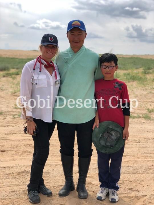 Canadian competitor in Gobi Desert Cup Lorie Duff
